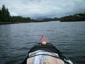 Photo: Balagny Passage between Watch Island on the left and the Don Peninsula of the mainland on the right.
