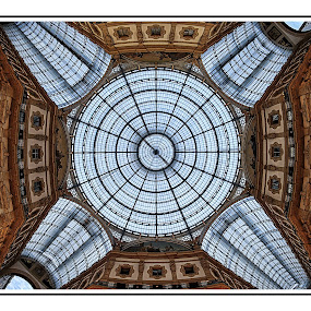Heads up by Romano Alberto Basso - Buildings & Architecture Public & Historical ( milan, ceiling, gallery, italy, downtown )