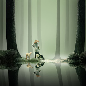 the edge of the lake by Eli Supriyatno - Digital Art People