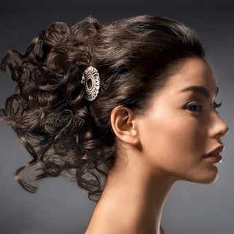 Curly Bunch Bridal Hairstyle