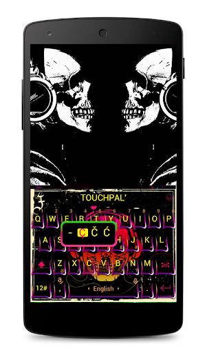 Funny Skeleton Keyboard Theme