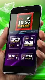 Best Digital Clock Widget - náhled