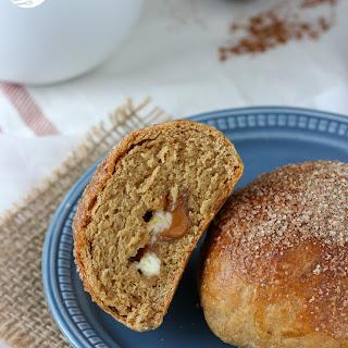 White Chocolate Caramel Gingerbread Brioche Rolls Recipe