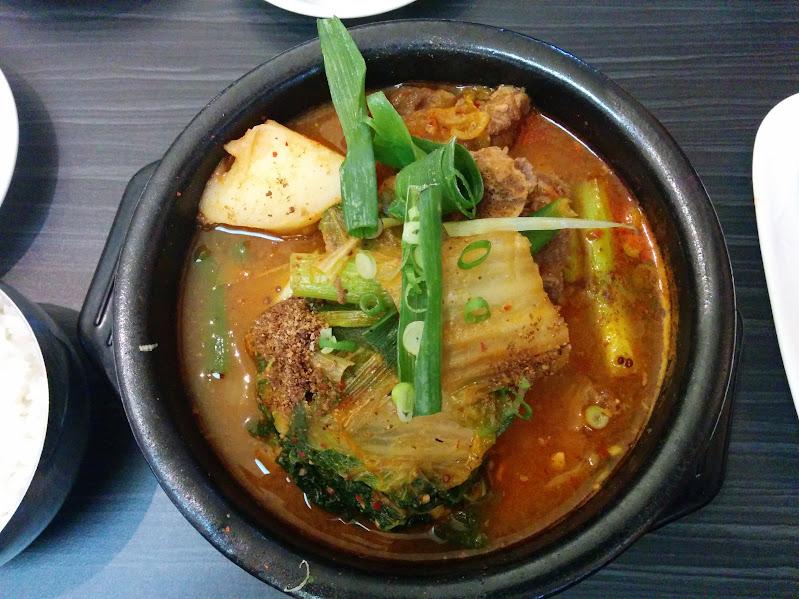 Pork Bone Soup at New Seoul in Mississauga (감자탕 뉴서울 미시서가)