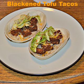 Crispy Blackened Tofu Tacos with Asian Slaw.