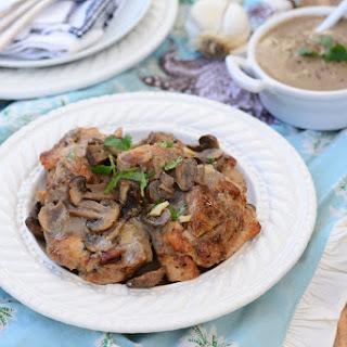 Baked Garlic Mushroom Chicken