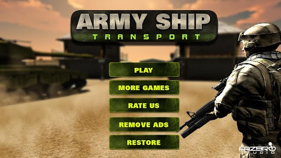 Army Ship Transporter Game Cargo Truck Driver- screenshot thumbnail