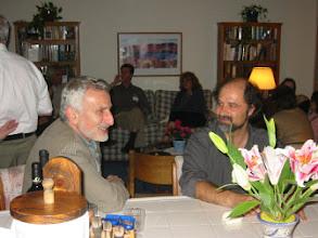Photo: Professors Edi Karni and Stergios Skaperdas