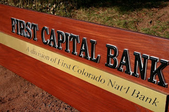 Photo: Carved Sign Illinois C/O First Colorado National Bank . See more wood carved Bank Signs @ signs at www.nicecarvings.com