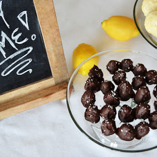 Raspberry Cream Filled Chocolates with Sea Salt.