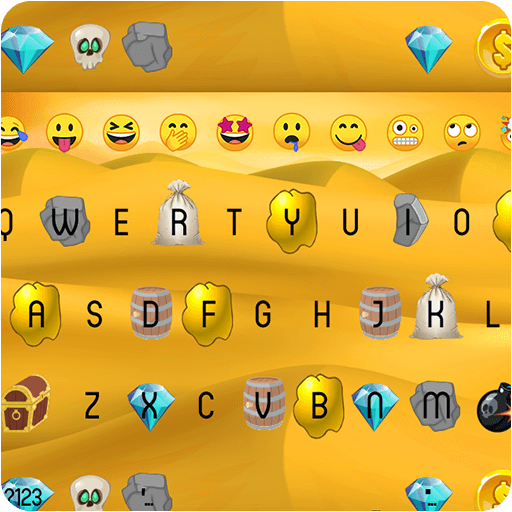 Emoji Keyboard - Gold Mine