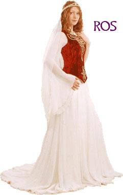 Celtic Medieval Bridal Gown