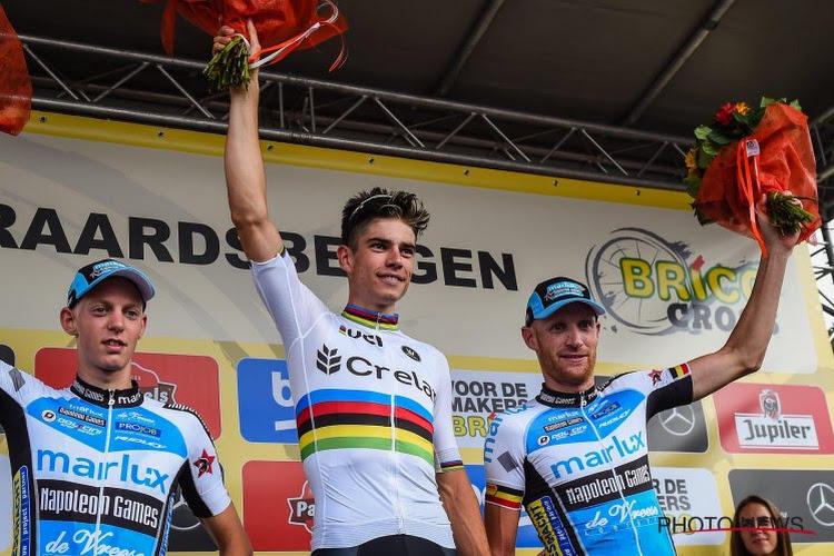 Het is gebeurd: Van Aert rijdt in 2018 op de weg