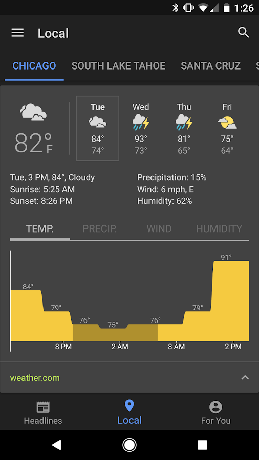Google News & Weather- screenshot