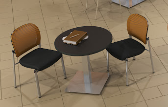 Photo: ValoreChairs and Bistro table with Stainless Steel base