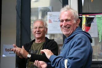 Photo: Ome Herman en Nelis op de DAG van de Buurt in 2010