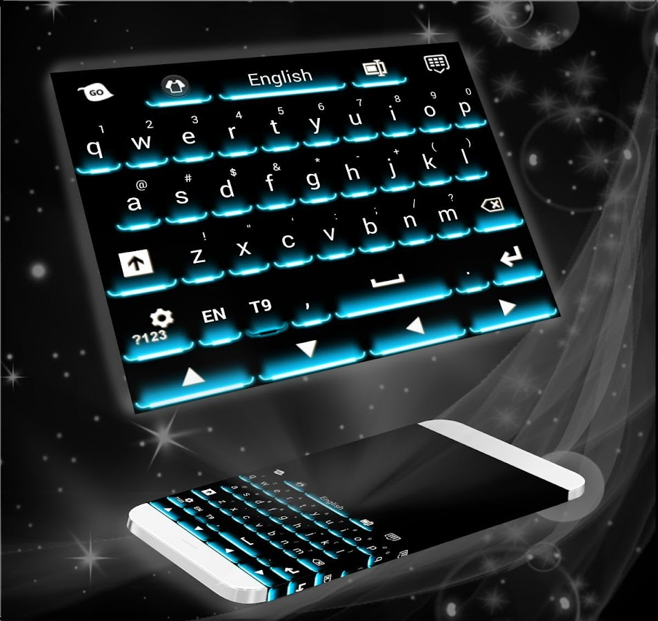 Neon Theme Keyboard Phone- screenshot
