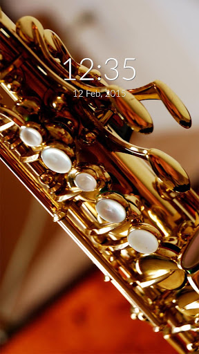Saxophone Wall Lock