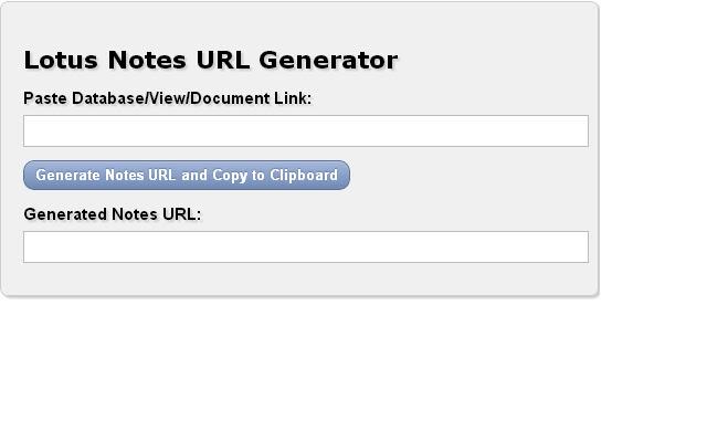 Lotus Notes Link/URL Generator