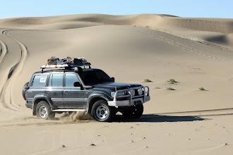 Photo: Гряда песчаных барханов Дургун-нура шириною в 14 километров. Гланое - не останавливаться в сомнительных местах.