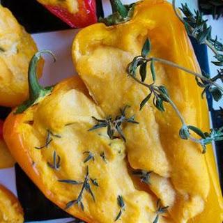 Roasted Pumpkin Mini Sweet Peppers Appetizer.