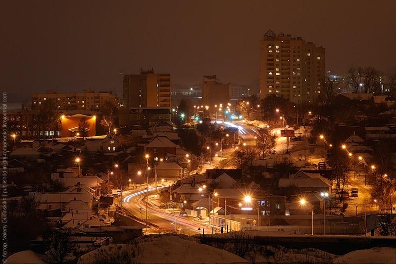 фотографии ночного Белгорода