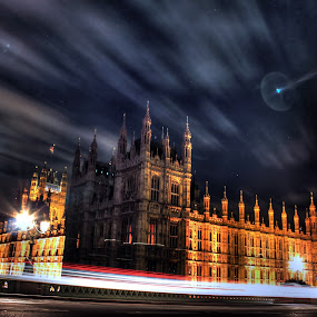 The Big Ben by Charles Ong - Buildings & Architecture Public & Historical ( landmark, uk, london, hdr, the big ben, street, travel, night, lights, , city )