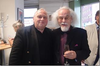 Photo: Künstlergespräch mit Sebastian Holecek (Peter Dusek) am 25.5.2015. Anton Cupak mit Udo Pacolt. Foto: Herta Haider
