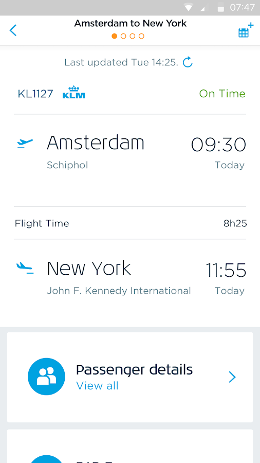 KLM - Royal Dutch Airlines- screenshot