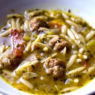 Whole Wheat Orzo Sausage Soup.