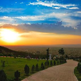 blue,yellow sky by Yılmz Doğn - City,  Street & Park  Vistas
