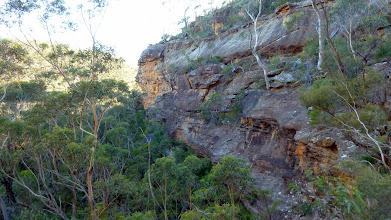 Photo: Walls along side ridge as we enter defile before climbing onto Bonnum Pic ridhe poper