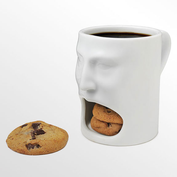 Coffee Mug Design Ideas diy sharpie mugs Put A Smile On That Mug With A Hungry Mouth Cubby That Bites Off More Than You Can Chew Perfect For Serving Milk And Cookies Coffee And Doughnuts