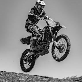 by Clayton Warby - Sports & Fitness Motorsports ( monochrome, motocross )