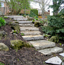 Photo: These steps were installed all by hand, using no equipment. More eco-friendly and all it took was a bit of thought and planning.