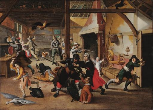 Soldiers plundering a farm - Sebastian Vrancx — Google Arts