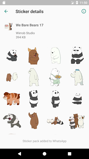 We Bare Bears Stickers for WAStickerApps screenshot 6