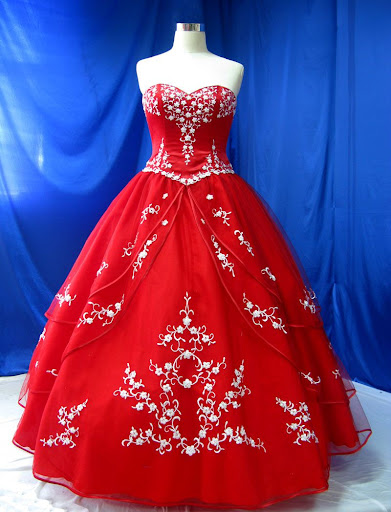 Red Bridal Gown Fashionable Wedding Dress