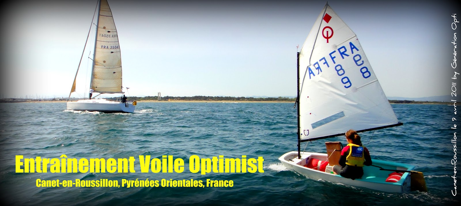 voile canet optimist generation-opti