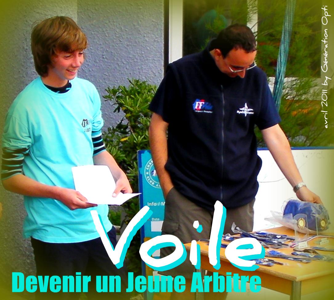 Voile Jeune Arbitre team race narbonne génération-opti