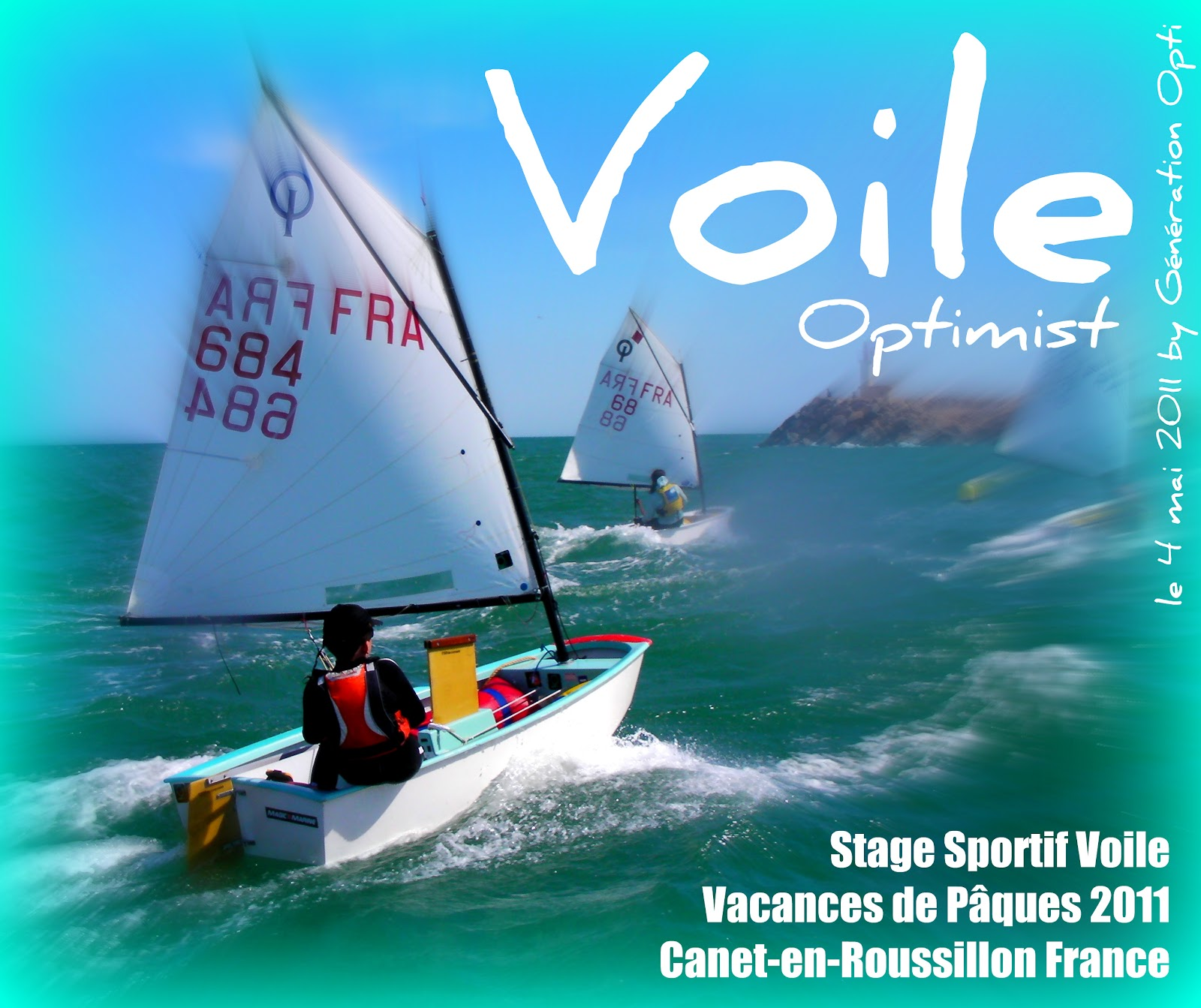 Stage voile canet-en-Roussillon génération-opti