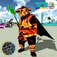 Flame Panda Rope Hero - Super Gangster Panda