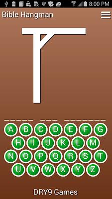 Bible Hangman - screenshot