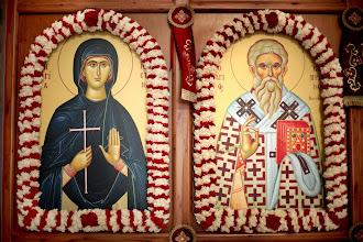 Photo: Иконостасните икони на свети Киприан и Иустина.