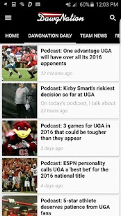 DawgNation Georgia Bulldogs- screenshot thumbnail