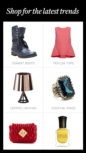 Screenshot 2 for Polyvore's Android app'