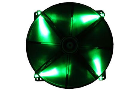 Bitfenix vifte m/grønn LED, Spectre, 200x20
