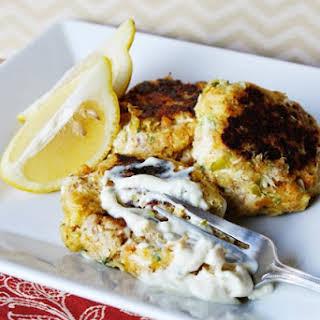 Skillet Tuna Cakes & Homemade Tartar Sauce.