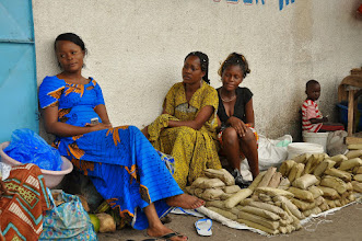 Photo: quanga - 'bread' of the Congo ...and the lady in blue was available for marriage ;-)