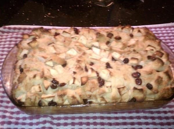 Apple N Cranberry Bread Pudding W/vanilla Glaze Recipe